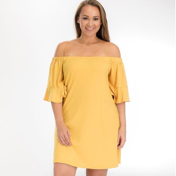 Off-Shoulder Graduation Summer Dress, Plus Size Boutique